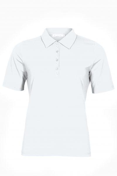 T-paita kauluksilla, valkoinen, puuvillaa