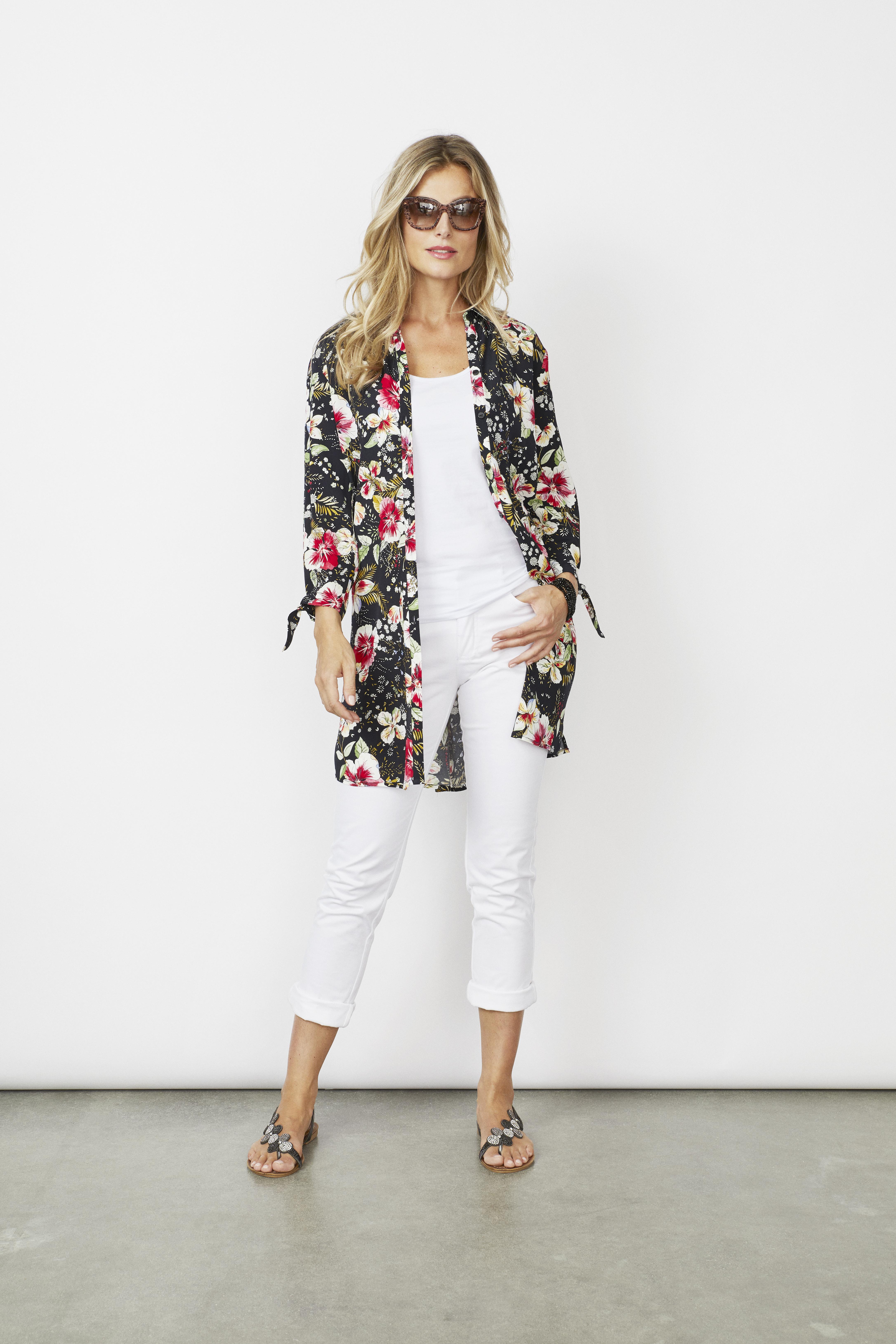 online jälleenmyyjä monia muodikkaita vakaa laatu Micha paitajakku kukallinen*