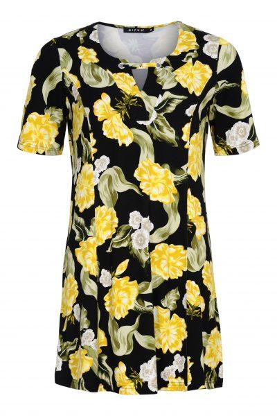 tunika keltaiset kukat
